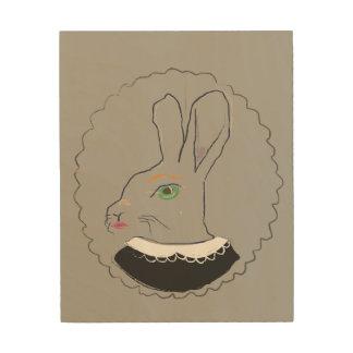 Mrs. Rabbit wooden art
