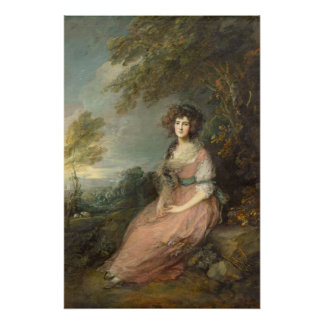Mrs. Richard Brinsley Sheridan, 1785- 87 Perfect Poster