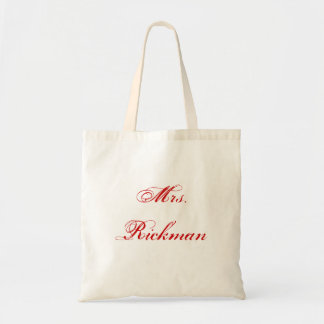 Mrs. Rickman Tote Bag