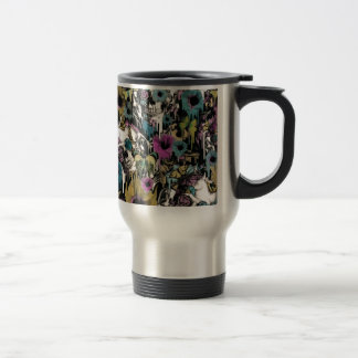 Mrs. Sandman, floral skull pattern Travel Mug