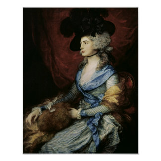 Mrs Sarah Siddons, the actress , 1785 Poster