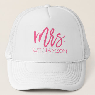 Mrs. Script Personalized Trucker Hat
