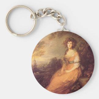 Mrs Sheridan Basic Round Button Keychain