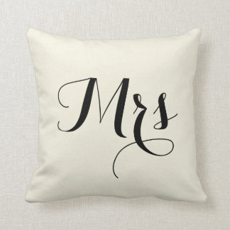 Mrs Striped Back Pillow - off white