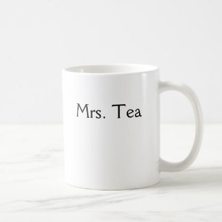 Mrs. Tea Classic White Coffee Mug