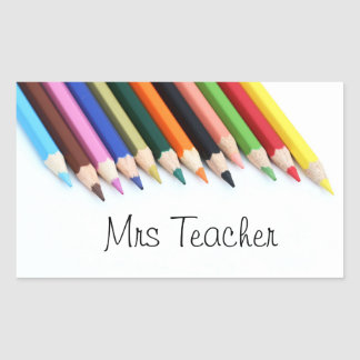 Mrs Teacher colour pencils Sticker