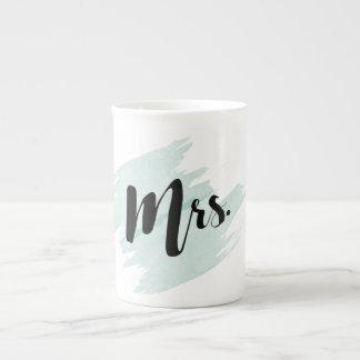 Mrs. Teal Watercolor Mug