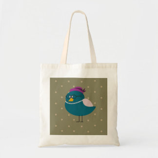 Mrs Turquoise Bird Tote Bag