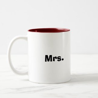 Mrs. Two-Tone Coffee Mug