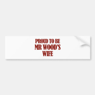 Mrs wood designs bumper stickers
