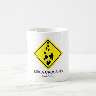 MRSA Crossing Sign Coffee Mug