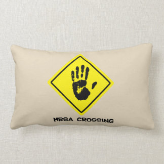 MRSA Crossing Sign Lumbar Pillow