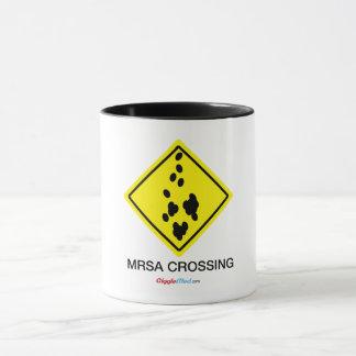 MRSA Crossing Sign Mug