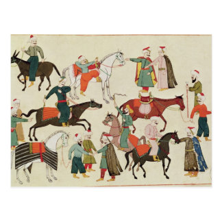 Ms 1671 A Horse Market, c.1580 Postcard