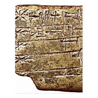 MS 2272 list of gods in order of seniority: Enlil  Postcard