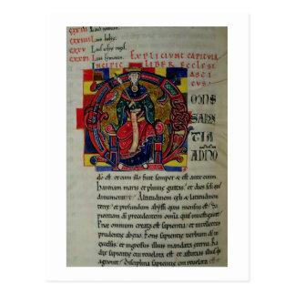 Ms 2 fol.8 Historiated initial 'O' depicting a fig Postcard
