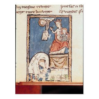 Ms 3516 f.127 The Juggler of Notre Dame Postcard