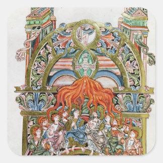 Ms 369  f.29v Pentecost Square Sticker