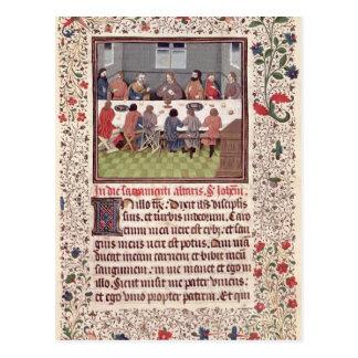 Ms 370 fol.184 The Last Supper Postcard