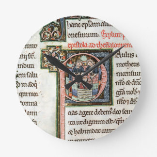 MS 3 Fol. 291v The Escape of Saint Paul from Damas Round Clocks