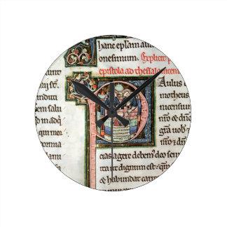 MS 3 Fol. 291v The Escape of Saint Paul from Damas Clocks