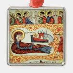 Ms 404 fol.1v The Nativity, from a Gospel Christmas Ornament