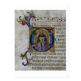 Ms 531 f.169v Historiated initial 'D' depicting Ki Postcard