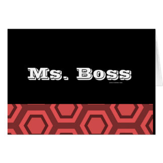 Ms. Boss Card