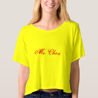 Ms. Chen Women T-shit T-shirt