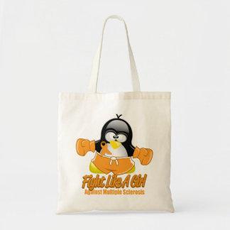 MS Fighting Penguin Tote Bag