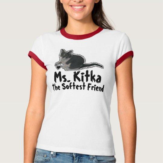 Ms. Kitka Softest Friend & Heart Frame T-Shirt