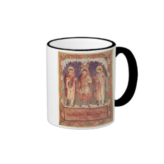 Ms Lat 1141 fol.2v The Coronation of Charles II (8 Mugs