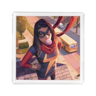 Ms. Marvel Comic #2 Variant Acrylic Tray