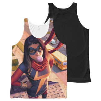 Ms. Marvel Comic #2 Variant All-Over-Print Tank Top