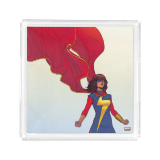Ms. Marvel Comic #3 Acrylic Tray