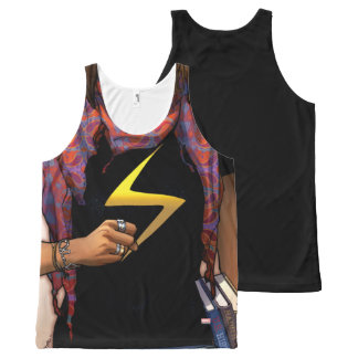 Ms. Marvel Comic Cover #1 All-Over-Print Tank Top