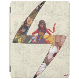 Ms. Marvel Comic Panel Logo iPad Cover