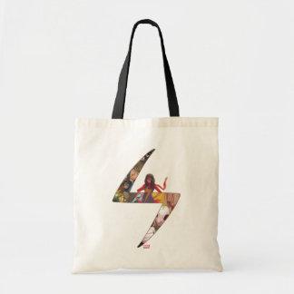 Ms. Marvel Comic Panel Logo Tote Bag