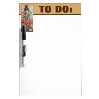 Ms. Marvel Standing In Street Dry Erase Board