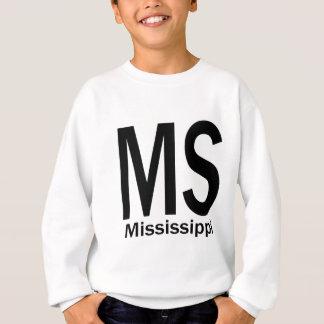 MS Mississippi plain black Sweatshirt