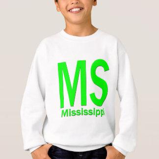 MS Mississippi plain green Sweatshirt