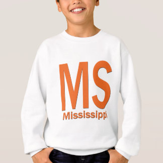MS Mississippi plain orange Sweatshirt