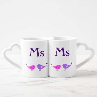 Ms & Ms lovebirds Coffee Mug Set