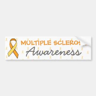 MS Multiple Sclerosis Awareness Ribbon Bumper Bumper Sticker