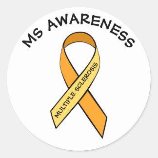 MS Multiple Sclerosis Awareness Ribbon Sticker