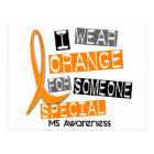 MS Multiple Sclerosis Orange For Someone Special Postcard
