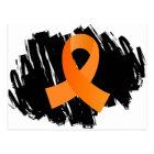 MS Orange Ribbon With Scribble Postcard