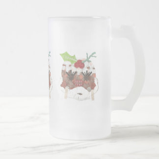 Ms Pudding Frosted Jug Frosted Glass Beer Mug