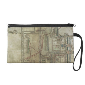 Ms R 171 f.285 Plan of Canterbury Cathedral and th Wristlet Clutch