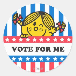 Ms. Sunshine Vote For Me Banner Classic Round Sticker